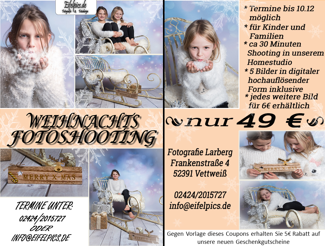 Weihnachts Fotoshooting 2017